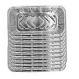 TOPofly 10PCS Vajilla de Aluminio Bandejas Pan portátil desechable Papel de Aluminio Recipientes para Alimentos Bandejas Juego de Cocina Accesorios de Cocina para Hornear