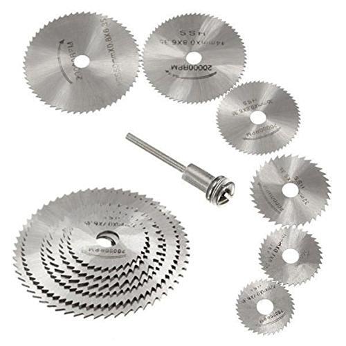 Bodhi2000 7 pcs/Ensemble de coupe de bois circulaire HSS Lame de scie Disques pour outil rotatif pour mandrin