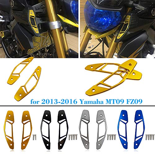 XX eCommerce Moto Protecteur de Protection d'admission d'entrée d'air CNC pour 2013-2016 Yamaha MT FZ 09 MT-09 MT09 2014 2015 (Noir)