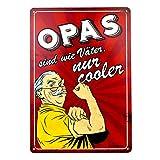 Stilingo Retro-Blechschild Opa Vintage Magnet-Metallschild Werbeschild 20x30 cm Türschild Opa...