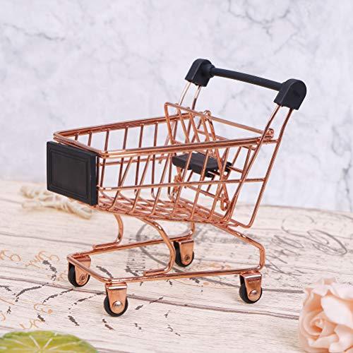 FDSIOXKF 1 x Mini-Supermarkt Bollerwagen, Mini-Einkaufskorb, Aufbewahrungswagen, Spielzeug, Supermarkt, Bollerwagen, Kinderspielzeug für Zuhause, Büro, Dekoration