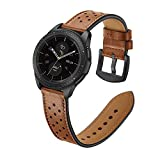 OXWALLEN Watch Band fit 18mm of Garmin, Fossil, LG, ASUS, Withings Series Compatible with Men and Women, Please Choose Right Size by Size Chart, Brown/Black