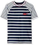 Hatley Boy's Short Sleeve Rash Guard Swimsuit, Blue (Shark Alley), 5 Years