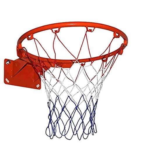 Aro de Baloncesto de Pared Anillo de Red Montado en la Pared Interior para Colgar al Aire Libre Portería de Baloncesto Colgante con 2 Redes de Baloncesto y 4 Tornillos Aro de Baloncesto (Colo