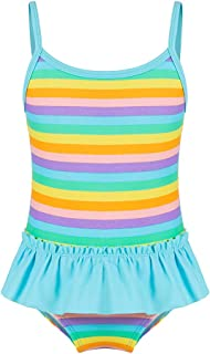 miniatree Girls Kids Swim Skirt UPF 50+ Sun Protection Swimwear Swimsuit Sunsuit (Green, 3-4 T (100))