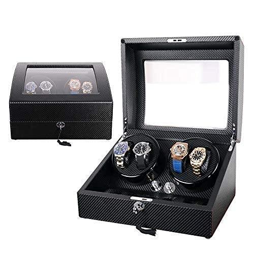 N/Z Ameublement de la Maison Montres-Bracelets automatiques Remontoir pour Hommes Organisateur de Montres Collection de vitrines à Bijoux Boîte au trésor Rangement pour jusqu'à 10 Bracelet à Bijoux