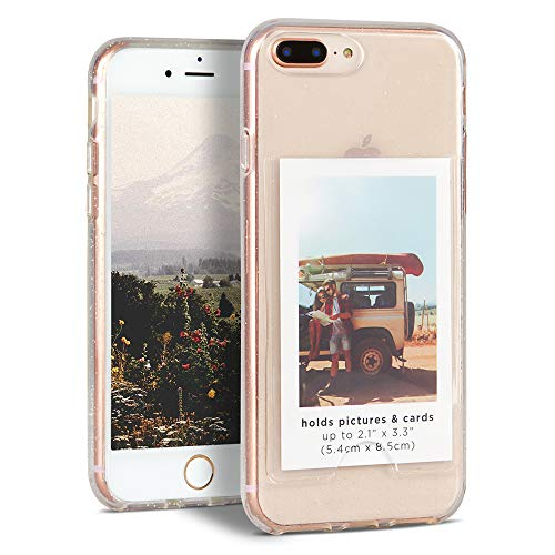 Nanette Lepore iPhone Plus Case – Compatible with iPhone 8 Plus, 7 Plus, 6/6s Plus – Card or Photo Pocket for Convenience & Customization – Shock Proof, Anti Scratch, Anti Slip - Full Protection