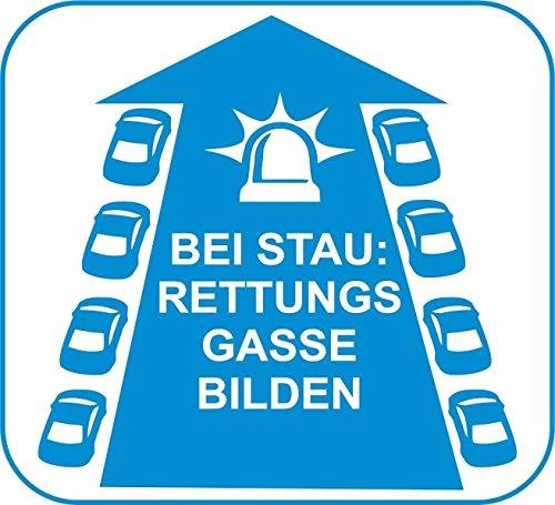 Loose Werbetechnik D650 Rettungsgasse - Aufkleber - Helfer - Helfen - Autobahn - Straße - Rettungsw
