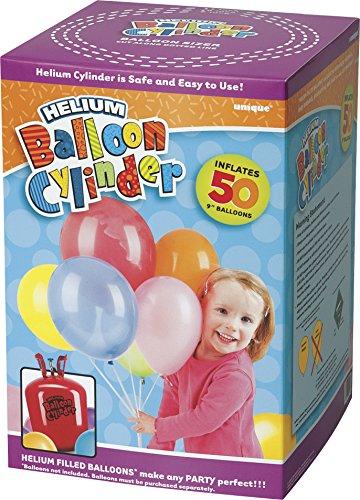 Grote wegwerpjerrycan voor helium, om 50 x 22,9 cm grote helium-ballonnen te vullen.