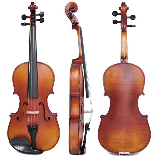 Vif 4/4 Handmade Stradivari Copy Style Violin Fiddle Case Bow Set Student Violin Show Full Size