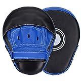Wuudi - Cuscinetti per boxe in pelle, per Muay Thai, Kickboxing, Esercizio, Boxercise, Karate, 1 paio