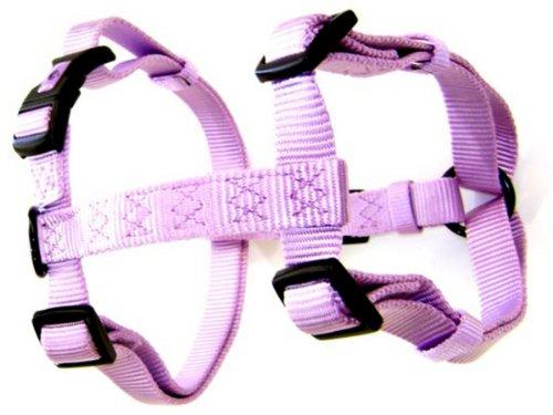Hamilton Adjustable Comfort Nylon Dog Harness, Lavender, 3/8' x 10-16'