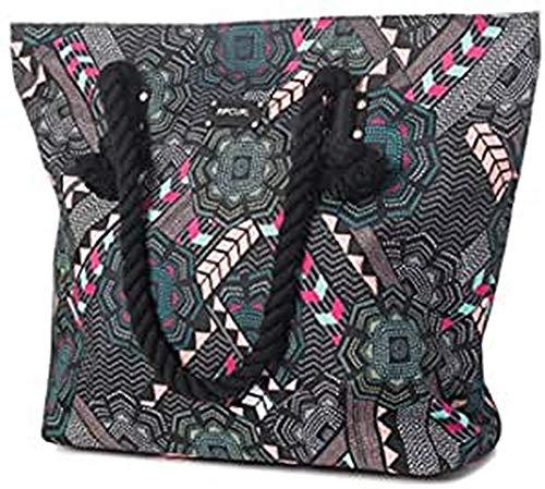 Rip Curl Damen Fiesta Beach Bag Henkeltasche Mehrfarbig (Schwarz)