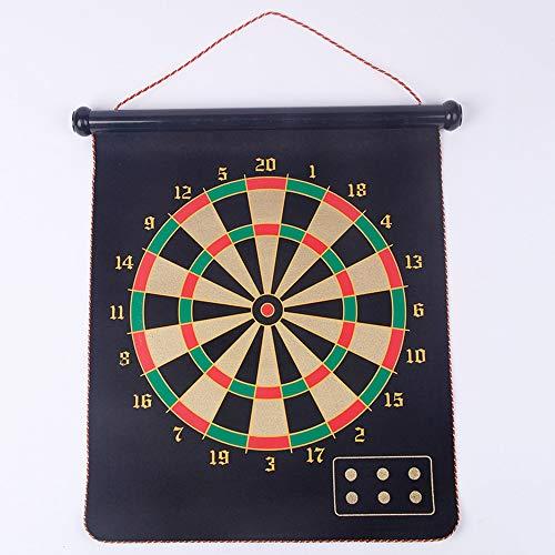 XHKJS Doppelseitige Magnetic Dart Board Set, Can Hang Multi-Spezifikation for Erwachsene Und Kinder Sicherheit Dart, Jungen-Spielzeug-Geschenke for Indoor- Und Outdoor-Spiele (Size : 17 inches)