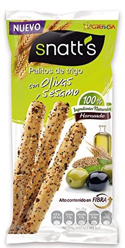 Snatts - Palitos De Trigo Con Olivas Y Ssamo 60 g