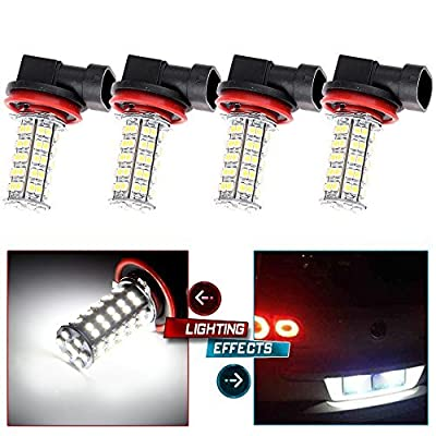 CCIYU 4X Xenon White H8 H11 68-SMD Fog/Driving Car Head light DRL LED Bulbs Lamp 12