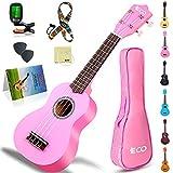 Soprano Ukulele Beginner Kit for Kids & Beginners, 21 Inch Ukelele with Songbook, Case, Strap, Tuner, Strings &...