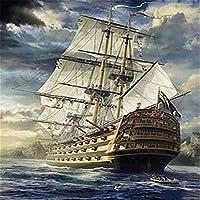 大人のためのパズル1000ピース-大人のためのジグソーパズル-海の帆船大規模なパズルゲーム1000個のアートワークジグソー大人のためのDIYギフトティーンキッズファミリー-30x20インチ(75 x 50cm)