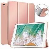 MoKo Funda para iPad 9.7 5th/6th Generation, Superior Delgada Protectora Case con Tapa Trasera Esmerilada Translúcida para iPad 9.7 Inch 2018/2017 - Oro Rosa