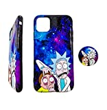 Mort and Rick Galaxy Prisoner Sanchez Design 3D Full Print Soft Silicone Protective Cover Case for iPhone 11 Pro Max iPhone 7 8 Plus XR (Hey Morty, SE 2020 / iPhone 7 / iPhone 8)