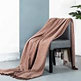 spencer & whitney Wool Blanket Wool Throw Blanket Rush Red,100 Precent Merino Wool Blanket Pure Wool Throw Blanket for Couch Bed