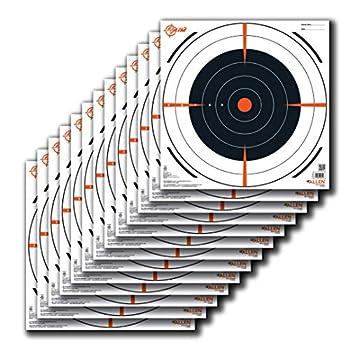 Allen Company EZ-Aim Paper Shooting Target Bullseye Target by Allen 12 inch x 12 inch 13 Per Pack Black