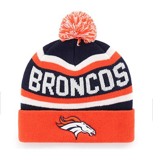 OTS NFL Jasper Cuff Knit Cap mit Pom, One Size, Unisex, NFL Jasper Cuff Knit Cap with Pom, One Size, Light Navy