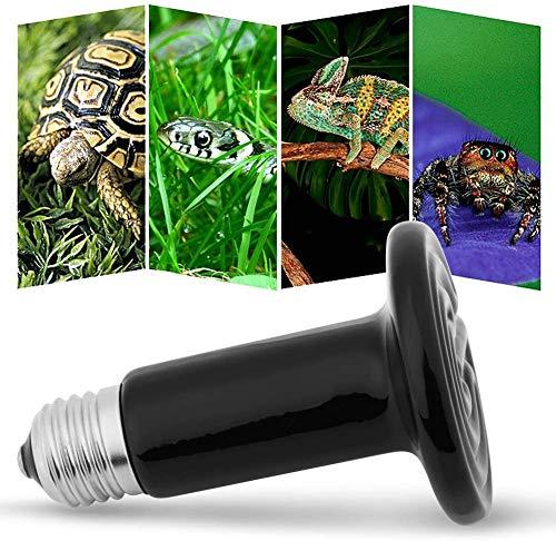HEEPDD Warmtelamp, terrarium, keramiek, infrarood, schildpad, zonder licht, voor reptielen, amfibiën, hamsters, slangen vogels, gevogelte, kip, coop, woonhuis 220 – 230 V, 50 watt.