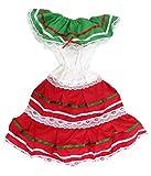 Ethnic Identity Girls Mexico Dress (4, Red)