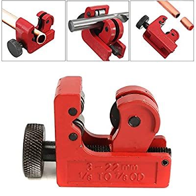 GOCHANGE Mini Tube Cutter Slice Copper Aluminum Tubing Pipe Cutting Tool 3-22mm 1/8inch-7/8inch