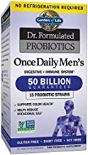 Garden of Life Dr. Formulated Probiotics for Men, Once Daily Men's Probiotics, 50 Billion CFU Guaranteed, 15 Strains, Shelf Stable, Gluten Dairy & Soy Free One a Day, Prebiotic Fiber, 30 Capsules