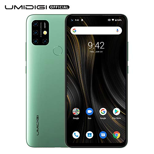 Power3 Android 10 Smartphone ohne Vertrag günstig 6.53 Zoll FHD+ FullView Bildschirm 5G WiFi Handy 4GB+64GB ROM, Global Version, Dual SIM, 48MP, 13MP Kamera NFC- Grün