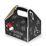 5Petits Noir Blanc Rouge Boîtes cadeaux Boîtes cadeau à Noël (9x 12x 6cm sans poignée) Boîtes, boîtes en carton pour les clients, amis, pour cadeaux de Noël + père noël emballage