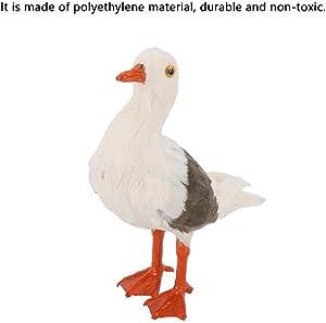 1 Pz Simulazione Polietilene Gabbiano Forma Statua Animali Scultura Giardino Decorazione da Giardino