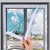 GGYMEI Kit De Película Aislante para Ventanas,Película Transparente para Ventanas Envoltura De Plástico Lona A Prueba De Viento Cortina De Aislamiento Térmico (Color : Claro, Size : 1x0.6m)