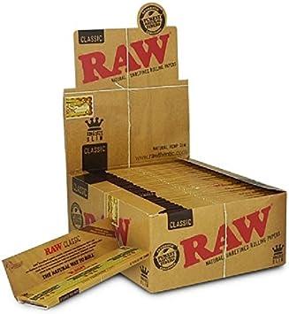 Papel de liar fino y en tono marrón, de Raw King (caja de 50), tela, marrón, 0.6 x 0.6 x 0.4 cm