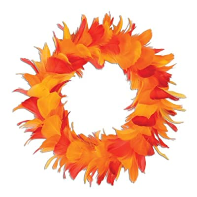 Beistle 57903-GGP Feather Wreath