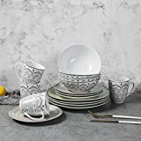 Best Everyday Dishes - Porcelain Dinnerware Sets 16 pcs - Ceramics Dishes Review