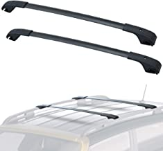 LED Kingdomus Cross Bars Roof Racks for 2015-2019 Jeep Renegade, Aluminum Luggage Rack Crossbars Cargo Rooftop Carrier