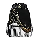XMCL Piano Keyboard Music Note Durable Backpack College School Book Shoulder Bag Travel Daypack for Boys Girls Man Woman