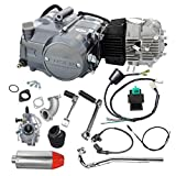 WPHMOTO Lifan 125cc 4-Stroke Air-Cooled Engine Motor Carburetor Wiring Harness and 28mm Exhaust Muffler With Pipe Kit for XR50 CRF50 XR CRF 50 70 Dirt Pit Bike Kawasaki