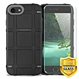 Case for Apple iPhone 7/iPhone 8/iPhone SE 2nd Gen (iPhone SE 2020) 4.7' inch, with [TJS Tempered Glass Screen Protector] Magpul Industries Bump MAG989-BLK Polymer Case Cover Retail Packaging (Black)