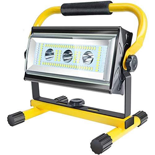 WOERD Foco Trabajo LED, Foco LED Portátil Exterior Recargable, 6 Modos de Brillo Ajustables Focos LED Exterior IP65 Impermeable Proyector LED Lámpara Camping