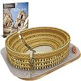 SKAJOWID 3D Colosseum Puzzle, National Geographic DIY Building Model Kit 3D Jigsaw City Puzzle con Folleto para Adultos, Adecuado para Niños Mayores De 8 Años, Regalo De Cumpleaños (131 Piezas)