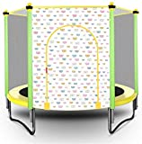 Mopoq Faltbare Kinder Trampolin Indoor und Outdoor-Mini-Trampolin Bungee Jumping mit Schutznetz Trampolin Pink/Gelb (Color : Yellow)