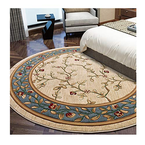JIN Europees super zacht rond tapijt is geschikt voor de woonkamer slaapkamer tapijt gezondheid en milieubescherming antislip rond tapijt.