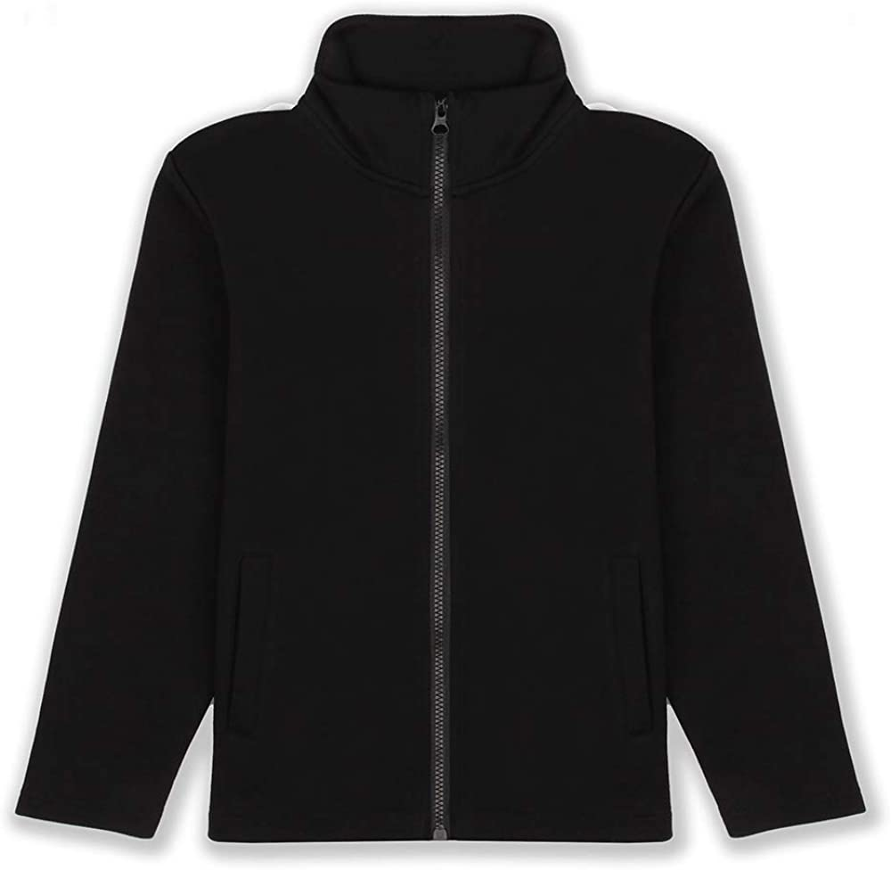 JIAHONG Kids Classic Stand Collar Full Zip Sweatshirt Jacket School Uniform Jacket for Boys and Girls (3-12 Years)
