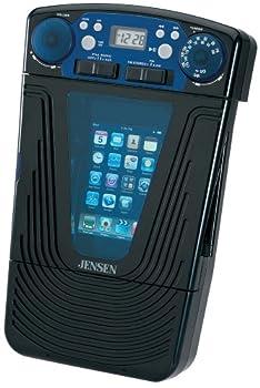 Jensen JISS-85 iPod MP3 Docking AM FM Shower Radio Stereo w/LCD Clock