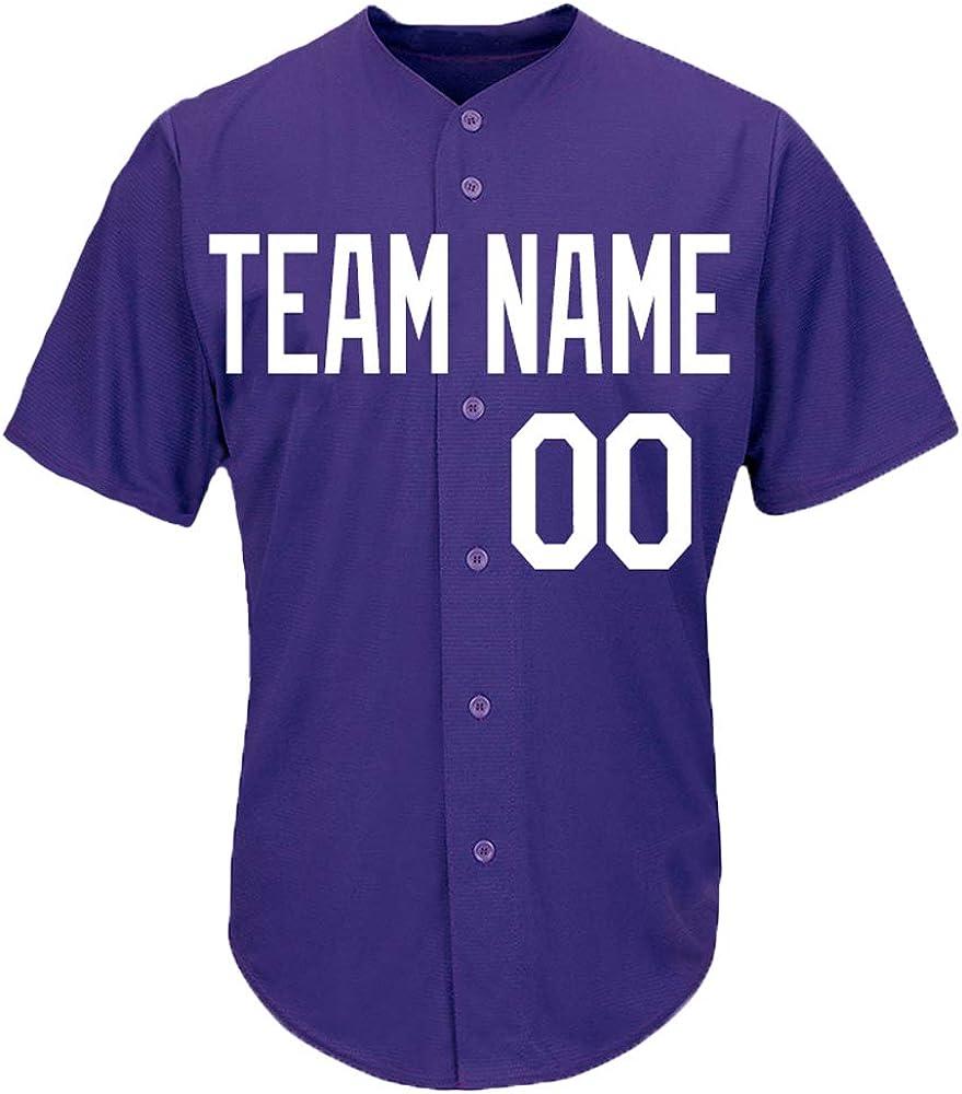 DEHUI [Alternative dealer] Custom Men Women OFFicial Purple Embr with Baseball Softball Jersey