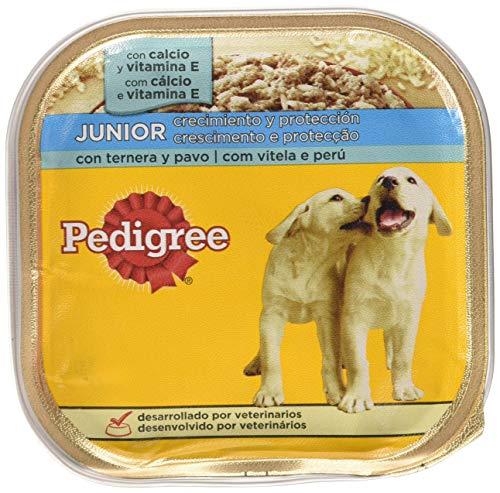 Tarrina perros cachorros ternera pavo 300g | [Pack